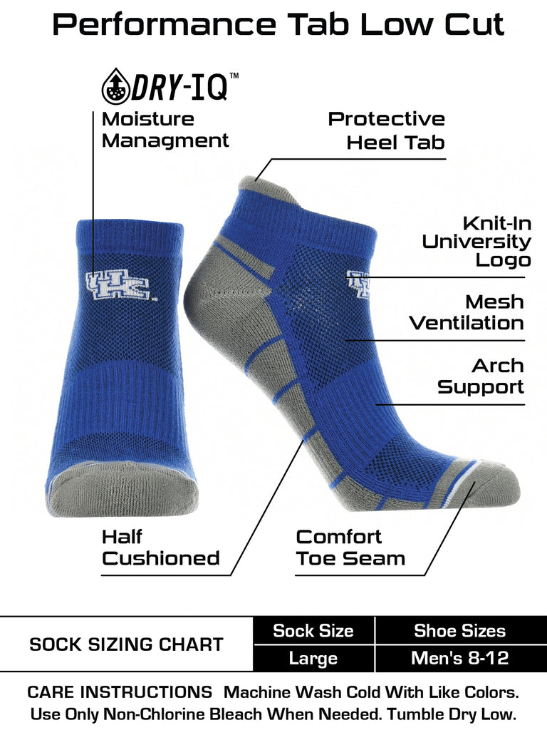 Kentucky Wildcats Low Cut Ankle Socks with Tab