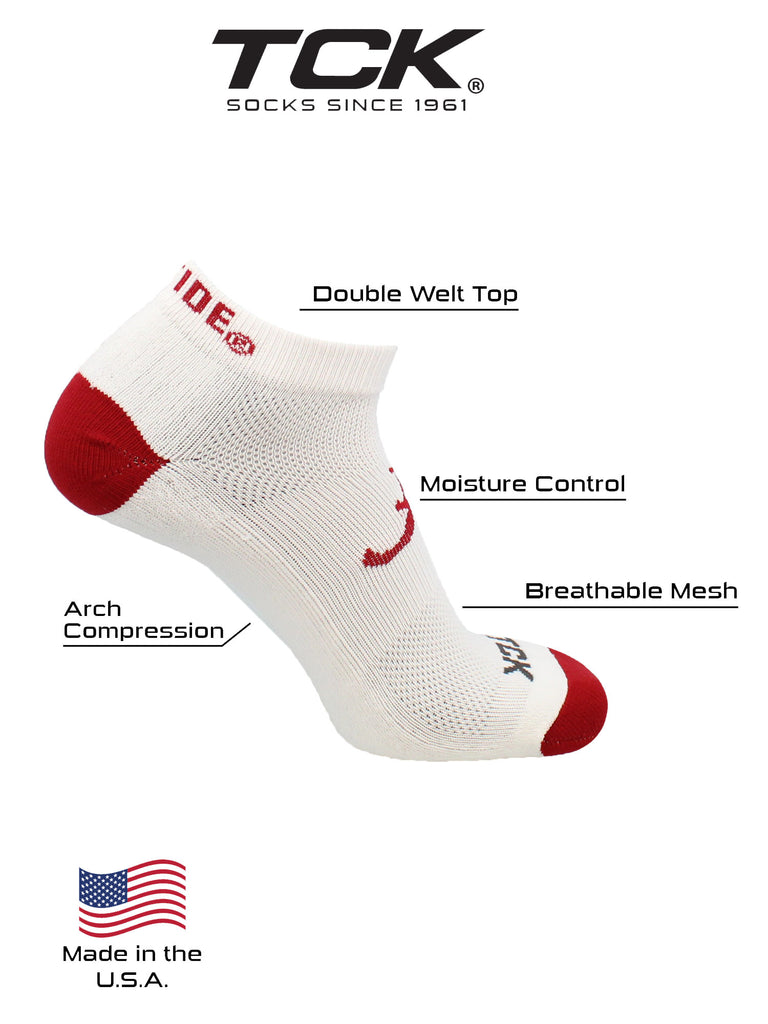 Alabama Crimson Tide Socks Footie No Show