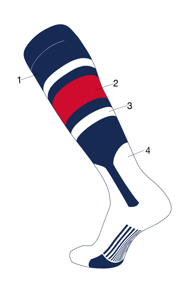 TCK Dugout Custom Baseball Stirrup Socks Pattern E