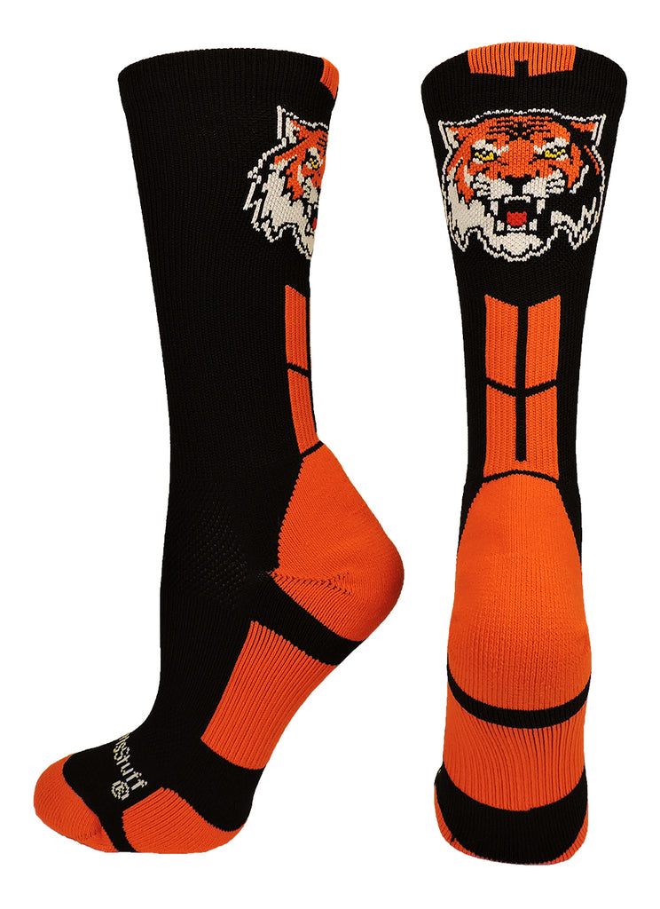 Tigers Logo Athletic Crew Socks (multiple colors)