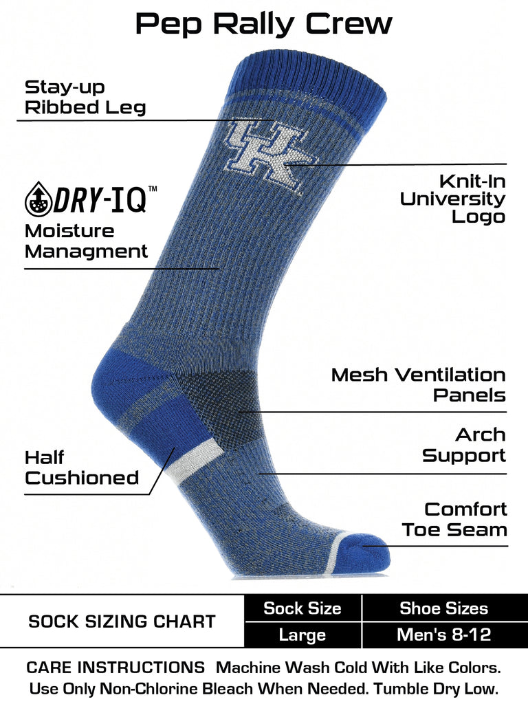 Kentucky Wildcats Socks Victory Parade Crew Length