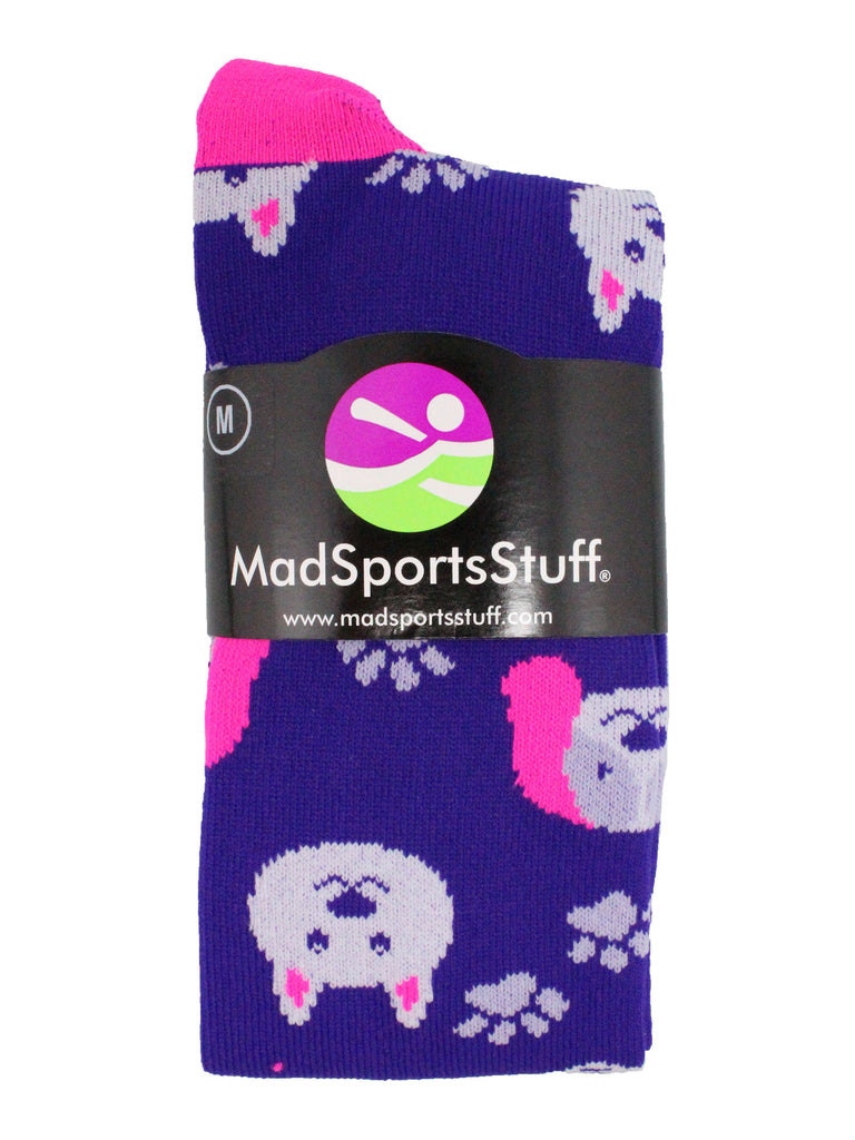 Neon Puppy Dogs Over The Calf Athletic Socks