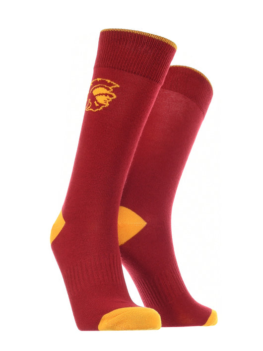 USC Trojans Dress Socks Dean's List (Red/Gold, Large) - Red/Gold,Large