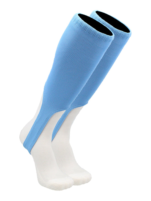 TCK 9 Inch Solid Baseball Stirrups (Columbia Blue, Large) - Columbia Blue,Large
