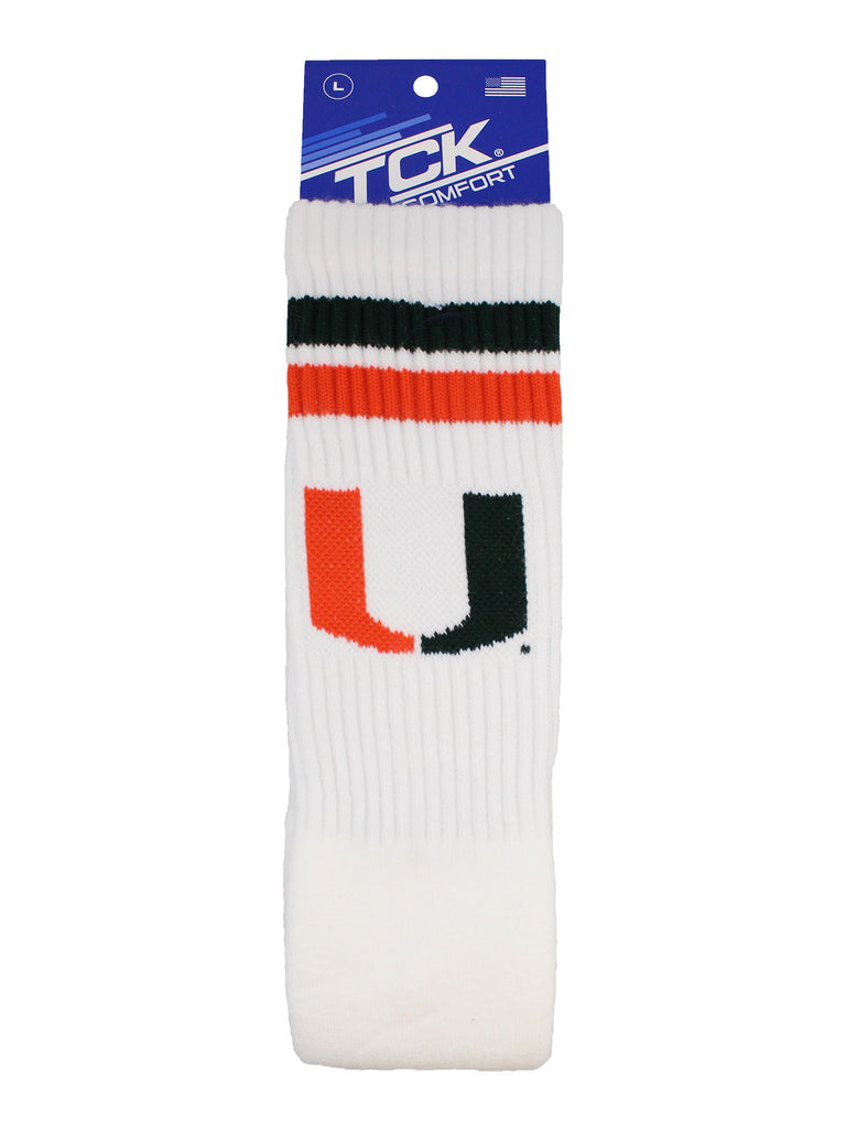 Miami Hurricanes Socks Throwback Tube Socks