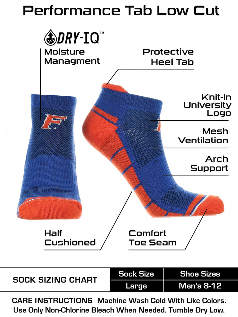 Florida Gators Low Cut Ankle Socks with Tab