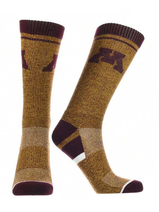 Minnesota Golden Gophers Socks Victory Parade (Maroon/Gold, Large) - Maroon/Gold,Large
