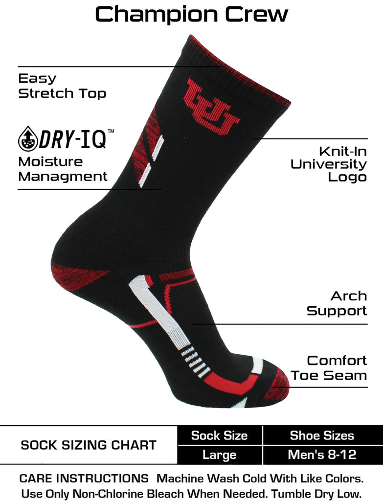Utah Utes Socks University of Utah Utes Champion Crew Socks