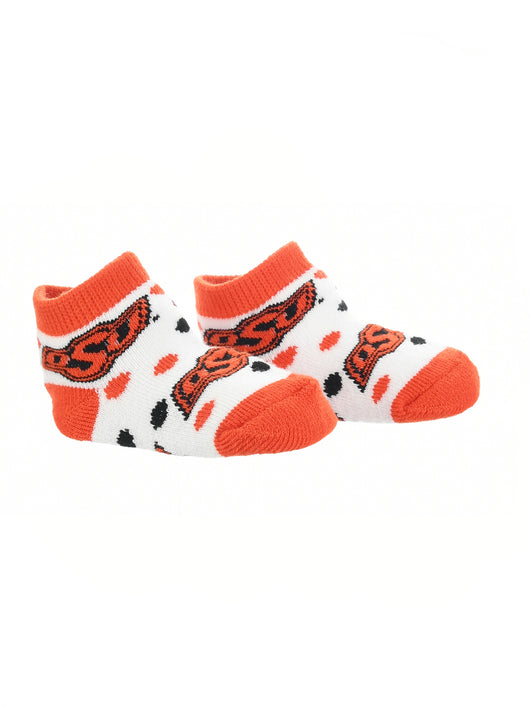 Oklahoma State Cowboys Toddler Socks Low Cut Little Fan (Orange/Black/White, 2T-4T) - Orange/Black/White,2T-4T