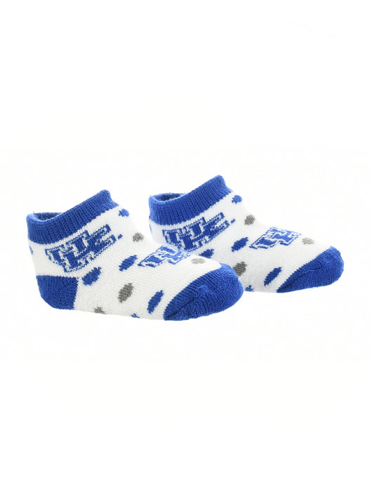 Kentucky Wildcats Toddler Socks Low Cut Little Fan (Blue/Grey/White, 2T-4T) - Blue/Grey/White,2T-4T