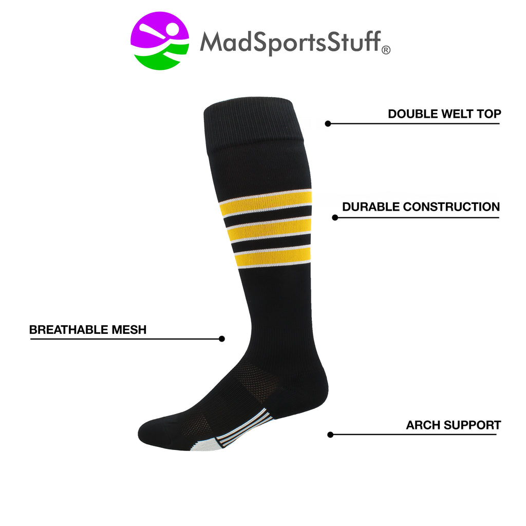 Gridiron 3 Stripe Football Socks (Multiple Colors)