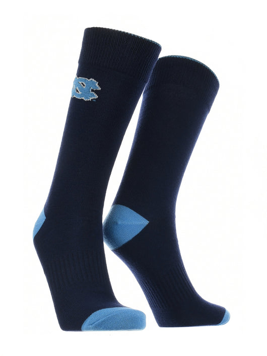 North Carolina Tar Heels Dress Socks Dean's List (Navy/Carolina Blue, Large) - Navy/Carolina Blue,Large