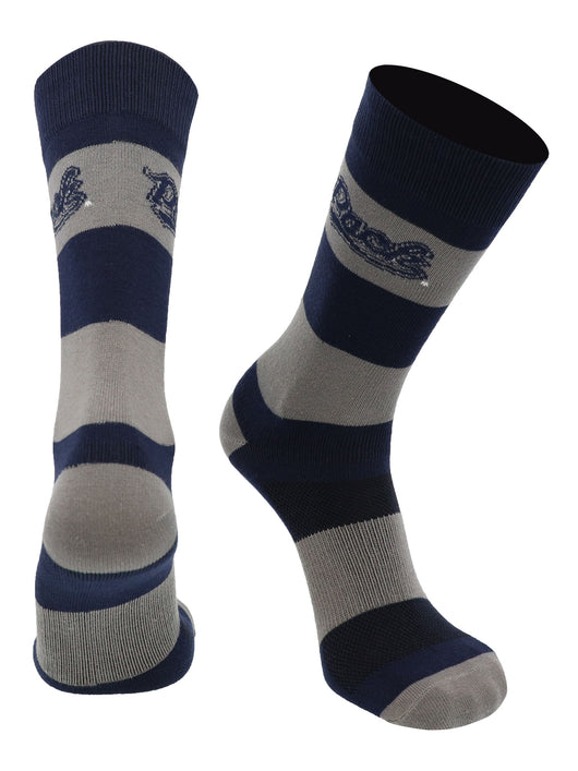Nevada Wolf Pack Game Day Striped Socks (Blue/Silver, Large) - Blue/Silver,Large