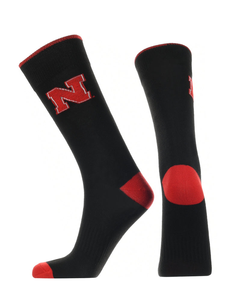 Nebraska Cornhuskers Dress Socks Dean's List Crew Length Socks