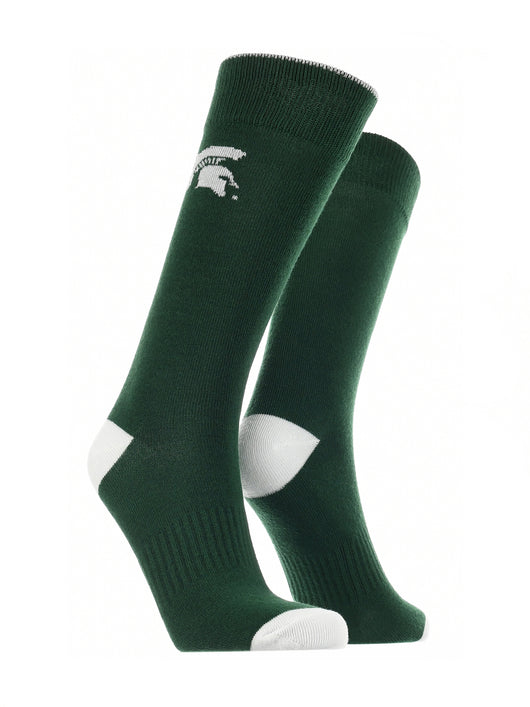 Michigan State Spartans Dress Socks Dean's List (Green/White, Large) - Green/White,Large