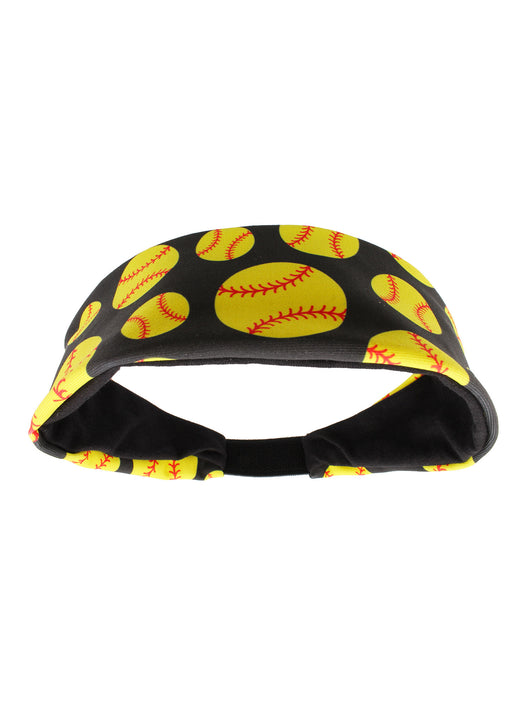 Crazy Softball Headband (Black, One Size) - Black,One Size