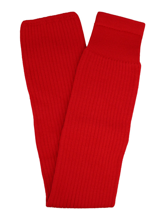 Solid Color Hockey Socks (Scarlet, Adult 28