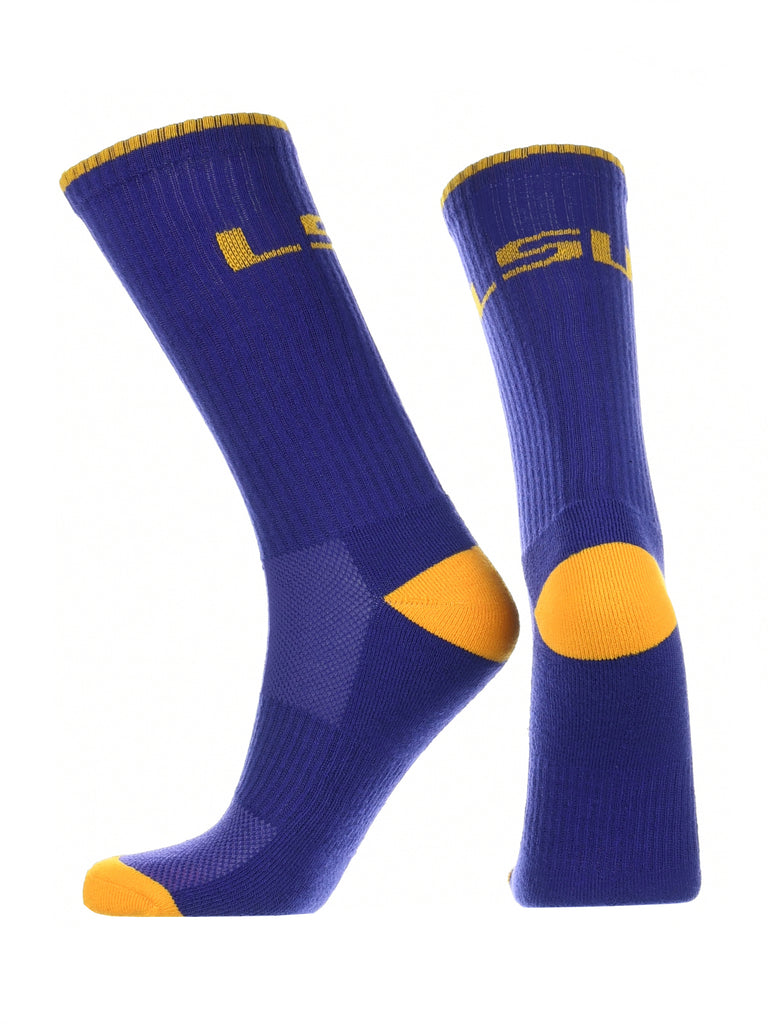 LSU Tigers Socks Campus Legend Crew Length