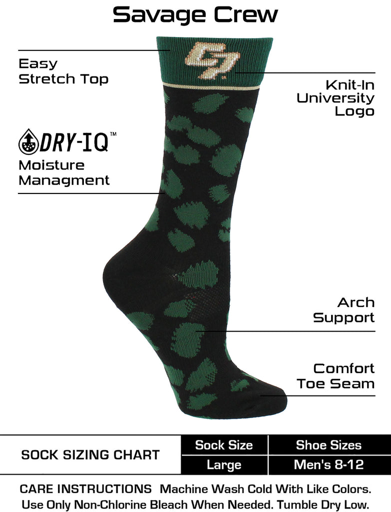 Cal Poly Mustangs Socks Womens Savage Crew Socks