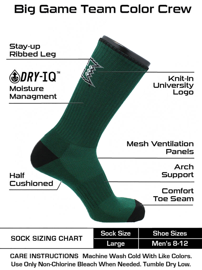 Hawaii Socks University of Hawaii Rainbow Warriors Socks Campus Legend Crew
