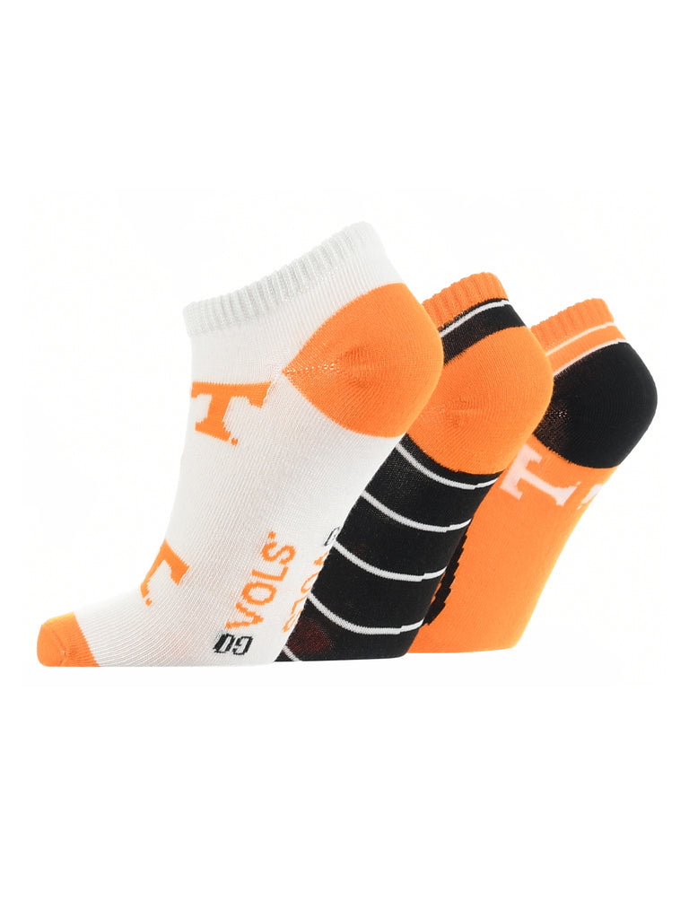 Tennessee Volunteers No Show Socks Full Field 3 Pack