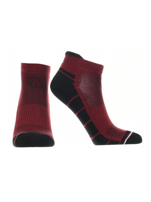 South Carolina Fighting Gamecocks Low Cut Ankle Socks Tab (Garnet/Black, Large) - Garnet/Black,Large