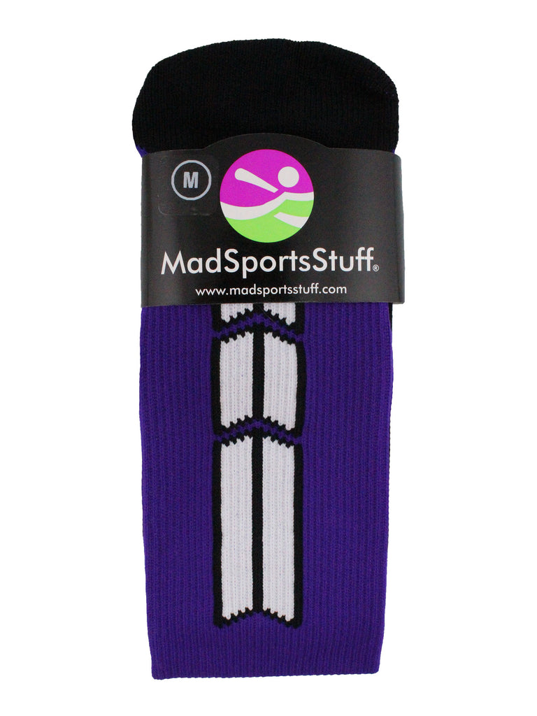 Purple Player ID Custom Number Over the Calf Socks for Softball Baseball Football Boys and Girls