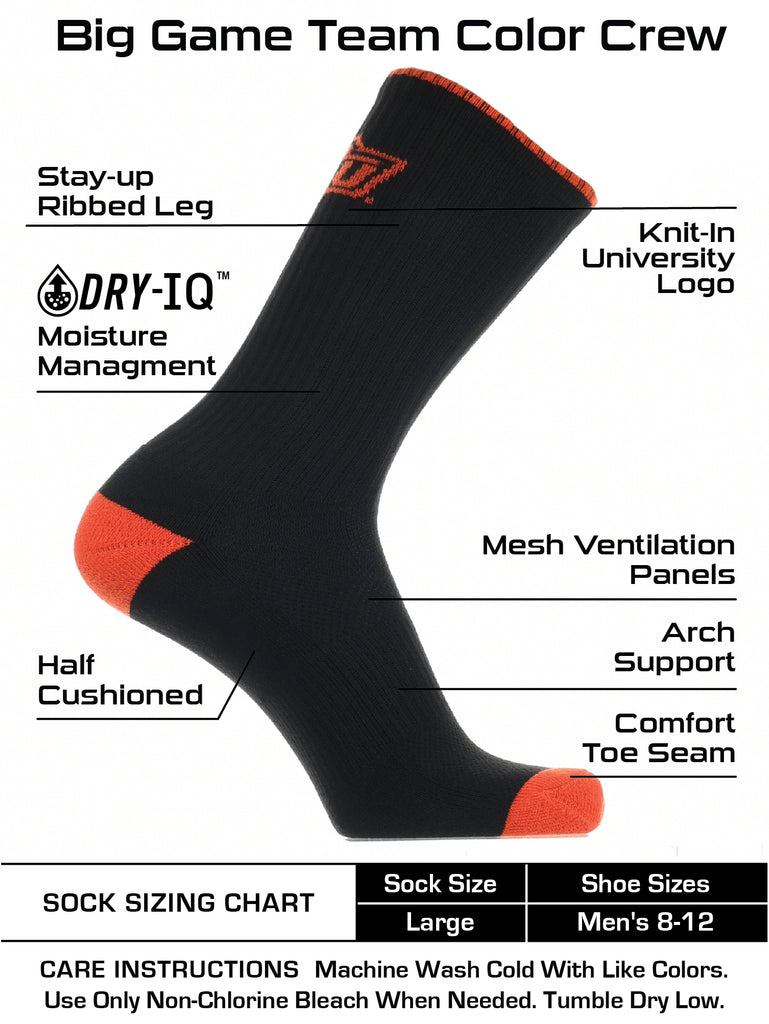 Oklahoma State Cowboys Socks Campus Legend Crew Length TCK 2
