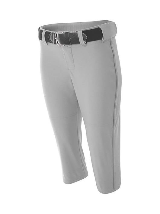 Womens Softball Pants Capri Length Pro Line (Grey, XX-Large) - Grey,XX-Large