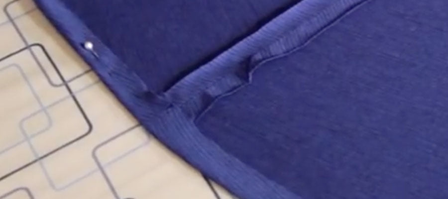 Pin and iron hem into place