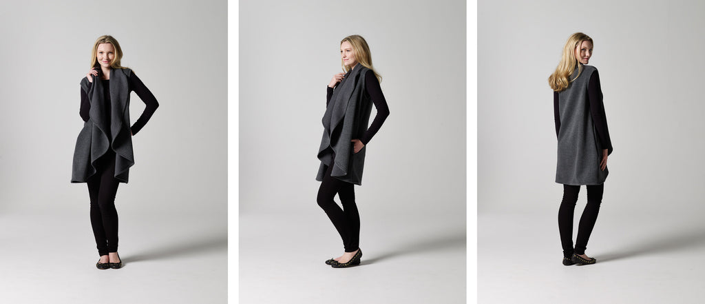 The Sleeveless Draped Coat