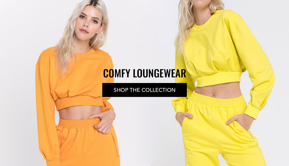 Comfy lounge wear collection. Women's sweatshirts, sweatpants, biker pants, robes and more. Check out our new daily essentials.