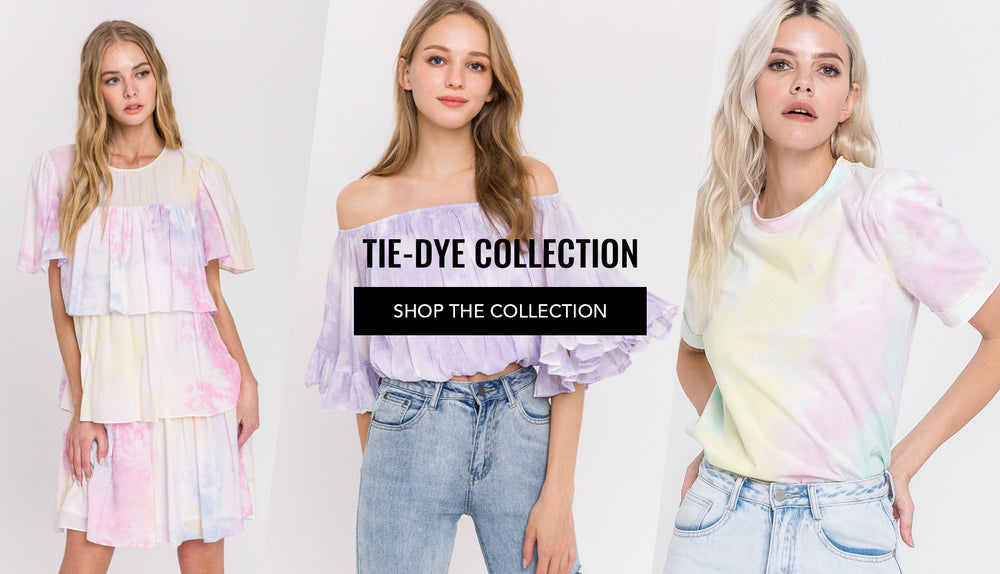 Tie-Dye dress, top, pants collection from brand Endless Rose, English Factory and more brands.