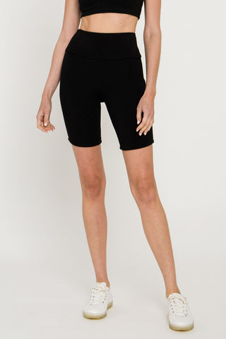 Black color work out biker shorts from grey lab clothing
