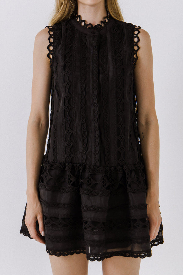 ENDLESS ROSE-Lace Mini Dress-DRESSES available at Objectrare
