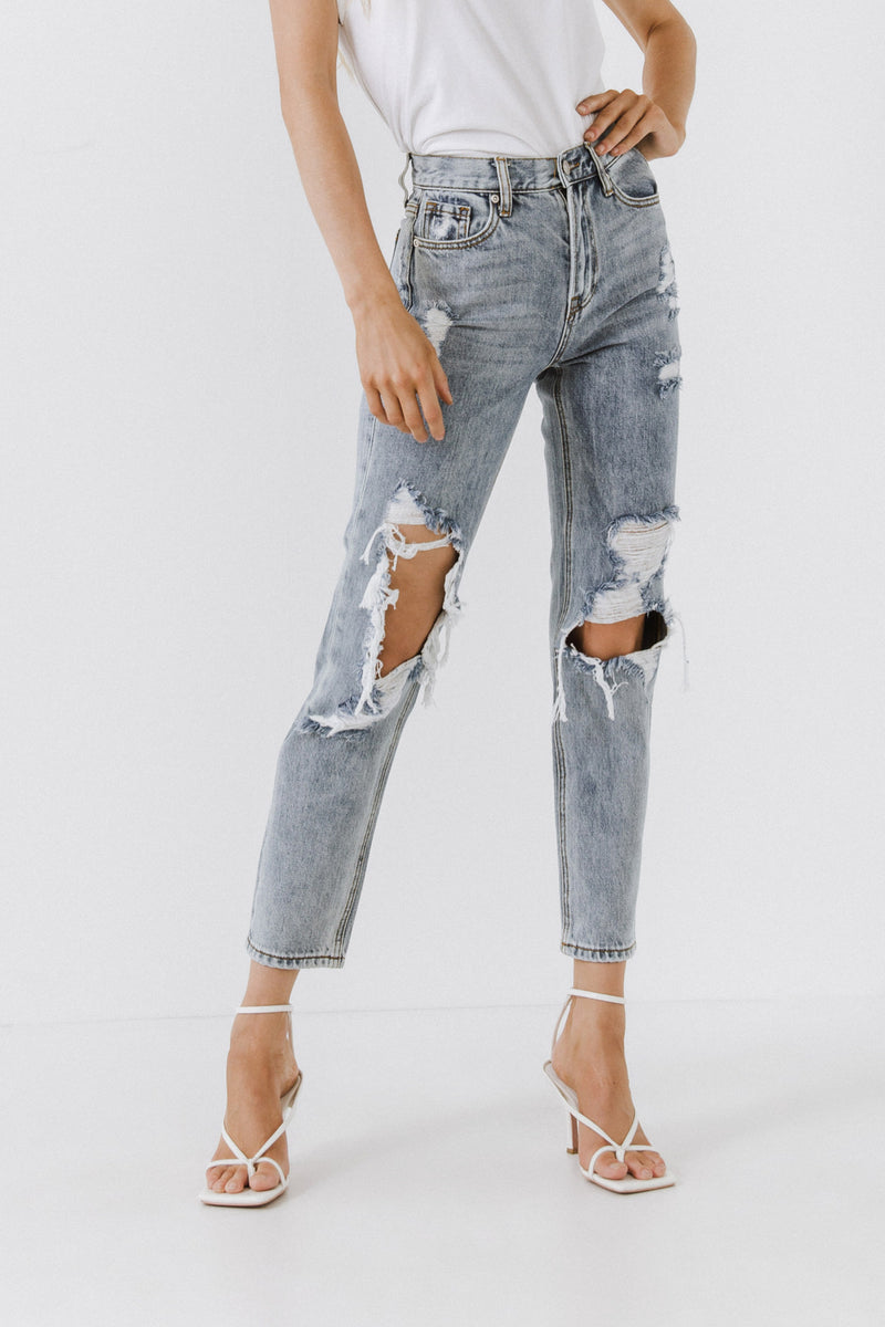 ENDLESS ROSE-Destroyed Jeans-JEANS available at Objectrare