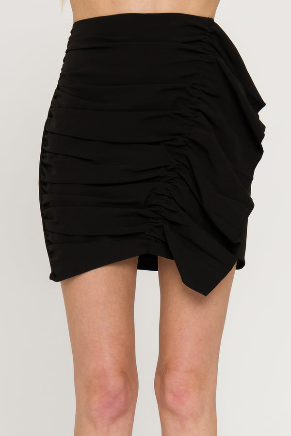 GREY LAB-Gathered Skirt-SKIRTS available at Objectrare