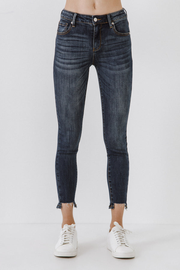 AFTER MARKET-Mid Rise Ankle Skinny Jeans-JEANS available at Objectrare