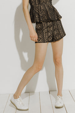 ENDLESS ROSE-All Over Lace Shorts-SHORTS available at Objectrare