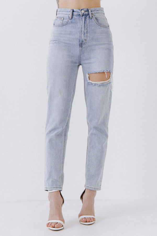 ENDLESS ROSE-Mom Jeans-JEANS available at Objectrare