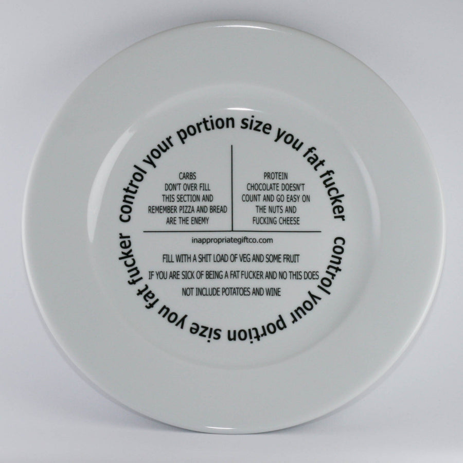 Essential Diet Plate - Fat Fucker Plate TIGC The Inappropriate Gift Co
