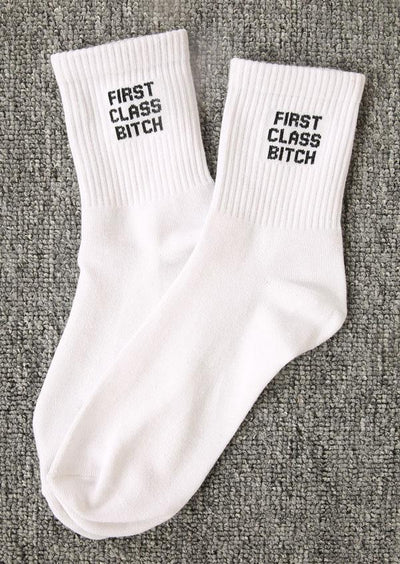 First Class BIT*CH  Socks TIGC The Inappropriate Gift Co