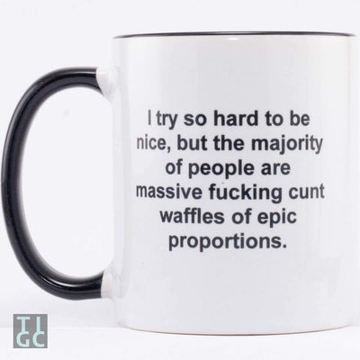 Fucking Cunt Waffle Mug TIGC The Inappropriate Gift Co