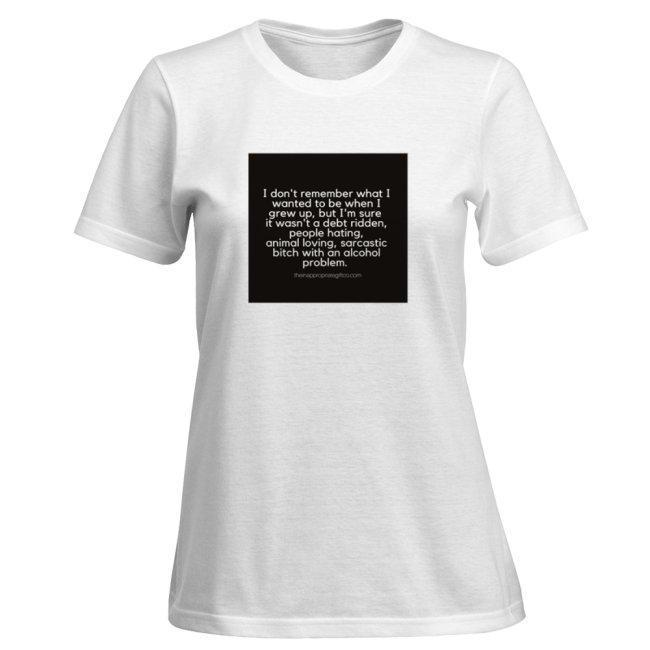 3711670d8 Grow-up sarcastic alcoholic Tshirt - The Inappropriate Gift Co - UK