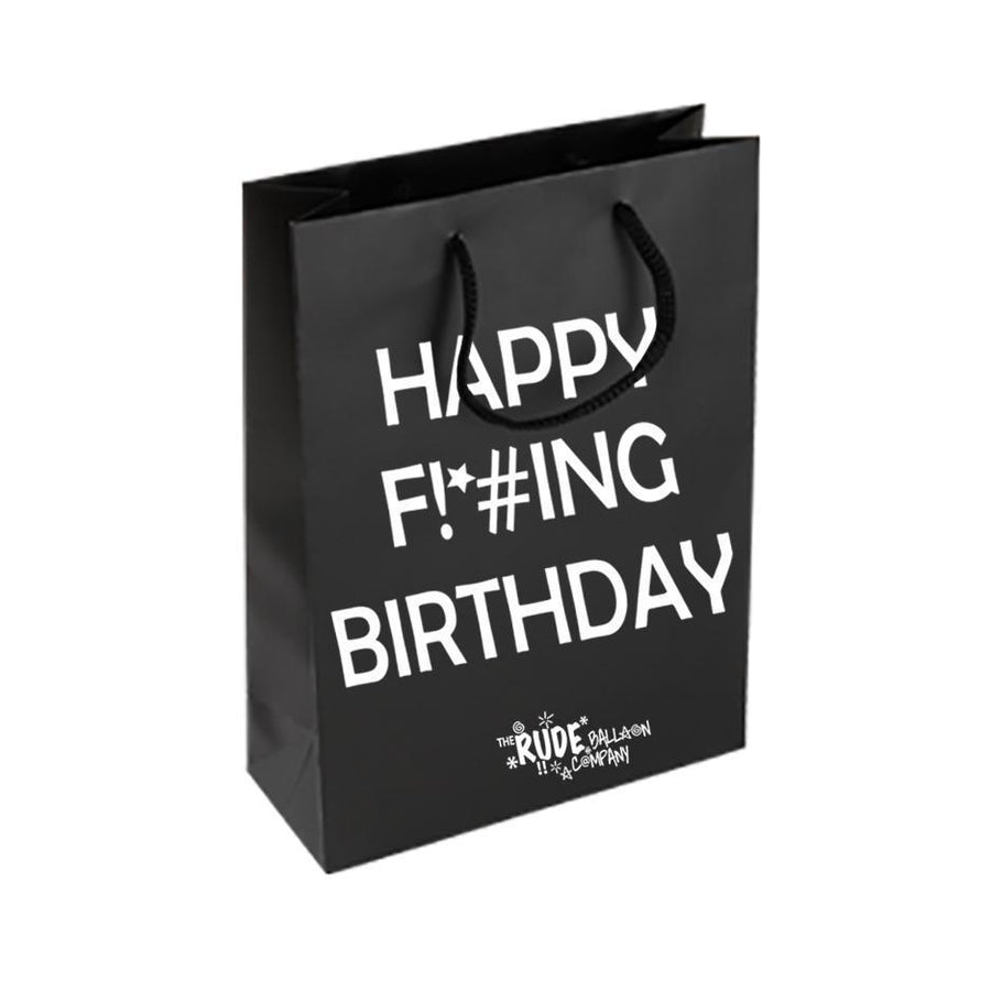 Happy F!*#king Birthday Bag TIGC The Inappropriate Gift Co
