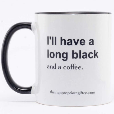 I'll have a long black and a coffee Mug TIGC The Inappropriate Gift Co