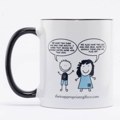 Two ears one head mug TIGC The Inappropriate Gift Co