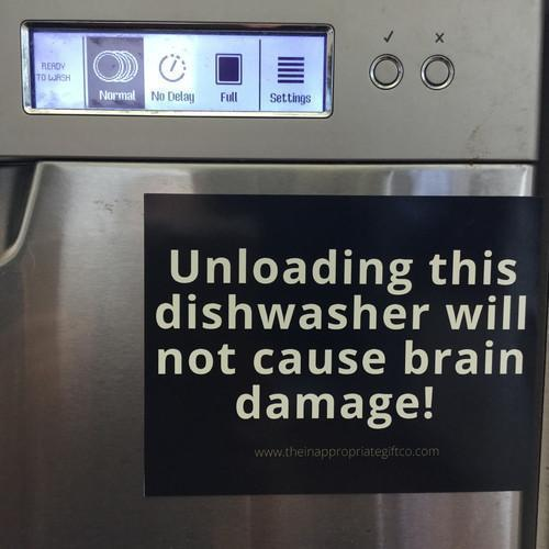 Unloading this dishwasher will not cause brain damage!