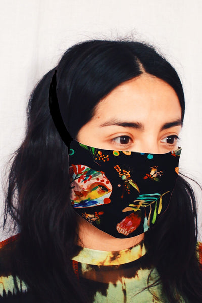 Cloth Face Mask in Wattle it be Navy