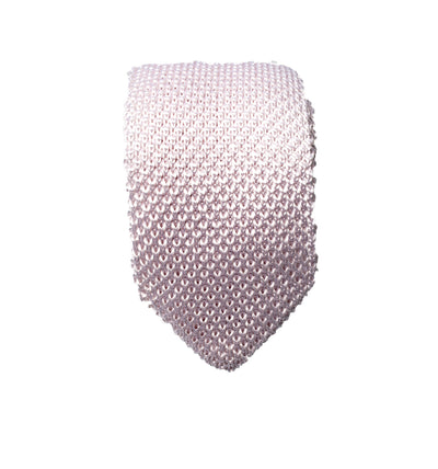 Hew Clothing tie knitted in Ivory